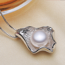 [Yinfeng] 3 Colors Genuine 10-11mm Natural Freshwater Big Pearl Pendant Necklace Charm Beautiful Jewelry for Women(China (Mainland))
