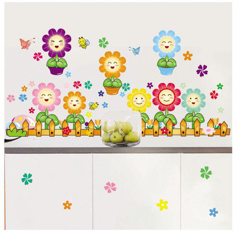 Diy Wall Decor For Classroom : Sunflower wall stickers picture more detailed