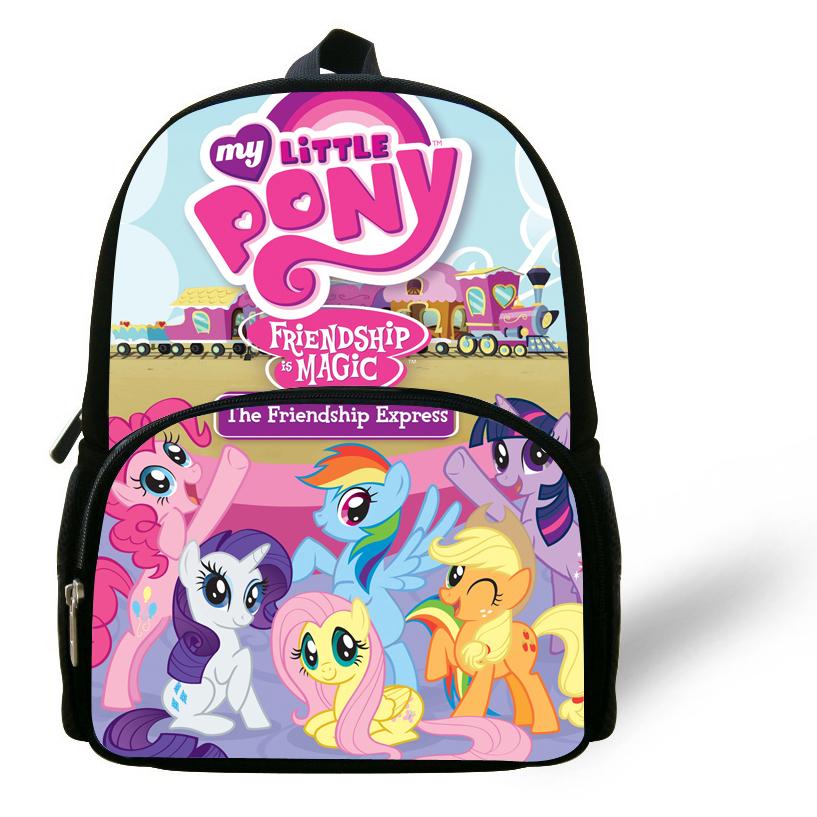 12inch mochila my little pony School Bag kids girls shoulder bag toddler boys infantil cartoon Backpack children kindergarten(China (Mainland))