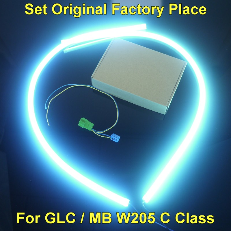 For Mercedes Benz C MB W205 or GLC 2014 2015 2016 Dashboard Interior OEM Original Factory Atmosphere advanced Ambient Light Brigh Package