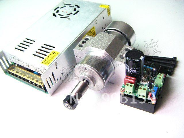 The total parts for 300w spindle motor/ DIY 300W spindle motor+power+mach3/support Mach3