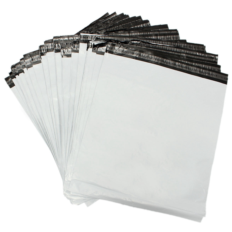 100 pieces/lot Poly Courier Mailer Mailing Satchel Self Adhesive Sealing Envelopes White Shipping Bags (50*70cm/60*70cm)(China (Mainland))