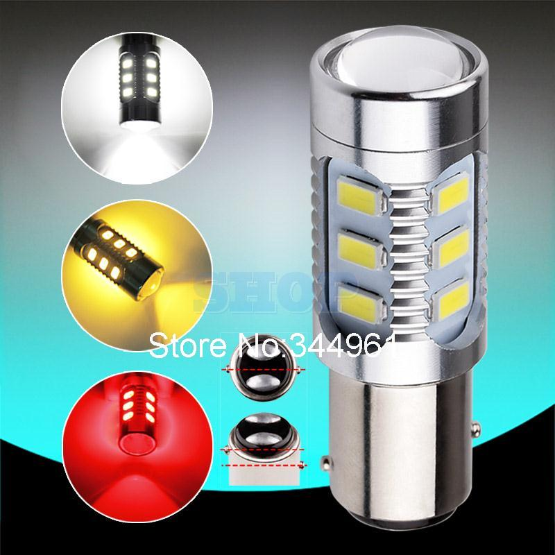1157 12 5630 SMD BAY15D Cree led High Power lamp 21/5w led car bulb brake Lights Source parking White Red Yellow 12V(China (Mainland))