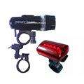 Free shipping Torch Bike Bicycle 5 LED Head Light 5 LED Rear Lamp H1E1