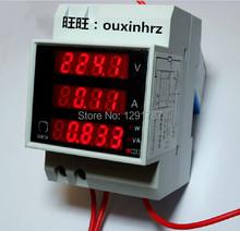 Buy AC 110V 220V Digital LED DIN RAIL100A power meter Ammeter Voltmeter 80-300V volt amp watt meter for $15.80 in AliExpress store