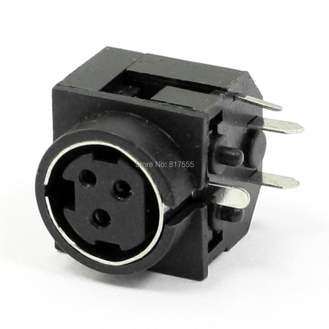 Computer Component Din 3 Pin Female PCB Mount Mini Sockets Connectors Head Discount 70(China (Mainland))