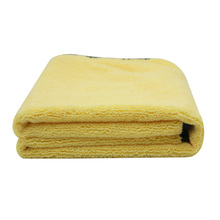 Practical Large Size Microfiber Car Cleaning Towel Cloth Multifunctional Wash Washing Drying Cloths 92*56cm Yellow(China (Mainland))