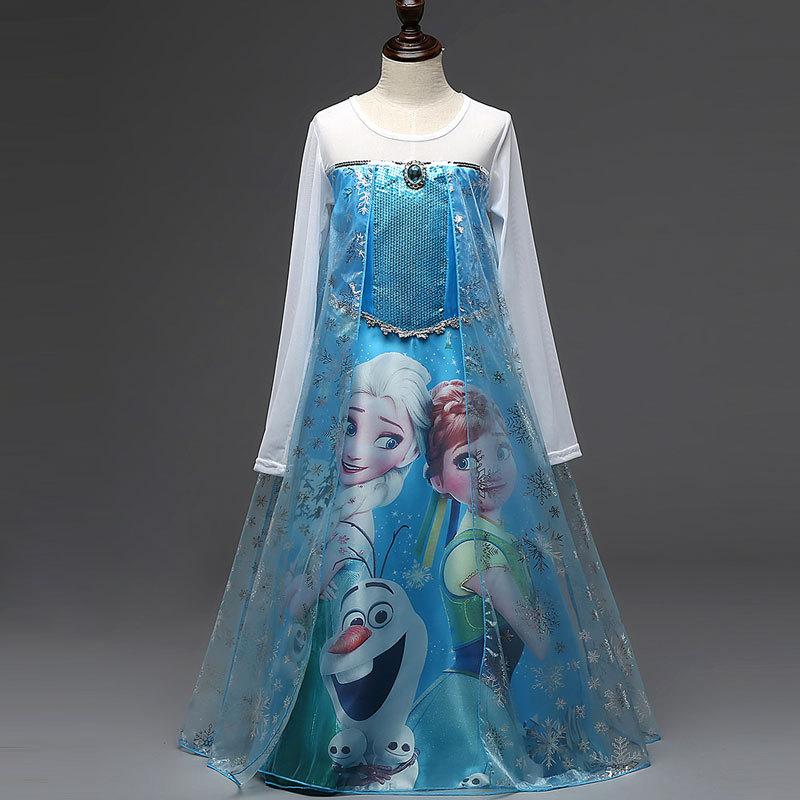 Kids Summer Dress Elsa Dress Princess Dresses Party Dresses Girls Summer Clothes Princess Costume Disfraz Princesa(China (Mainland))