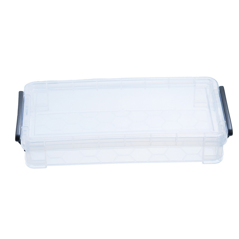 1PC Transparent Plastic Case Compartments Cases Covers Transparent Organizers Box Jewelry Packing Box 21.5x10x4.2cm(China (Mainland))