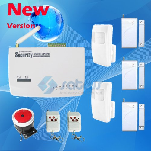 DHL Shipping~ Real Voice Prompt ~ Most Cost-Effective Wireless Home Intelligent Burglar GSM Alarm System 900/1800/1900Mhz