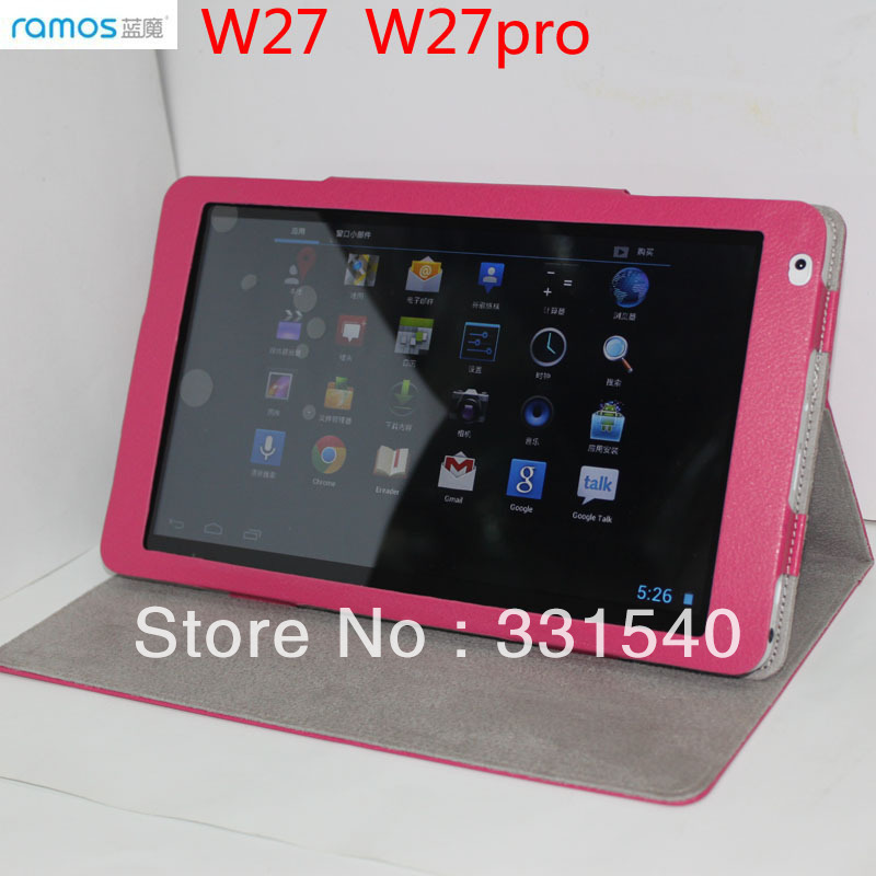 """Original PU Leather 10.1"""" Stand Cover Case 4 for Ramos W27 W27PRO Android Tablet PC(China (Mainland))"""