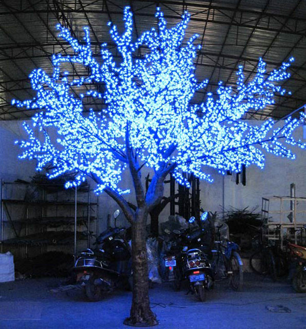 xmas lights Led high artificial cherry tree 4 meters 4328 lamp outdoor