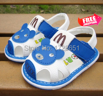 2015 лето мальчики искусственная лепнина новорожденного сандалии и различные стили мужская животных печать обувь для пешеходов бесплатно Shipppin