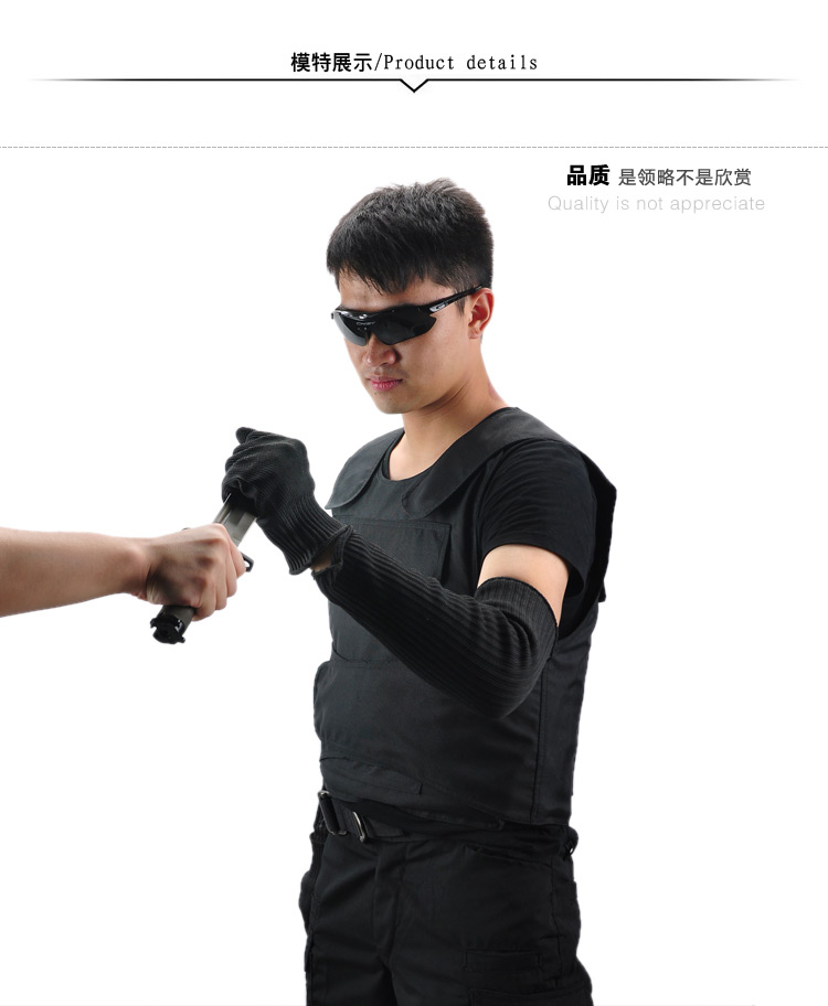 Buy Genuine self-defense products anti-cut wrist armband anti- scratch-resistant gloves wire knife outdoor equipment cheap