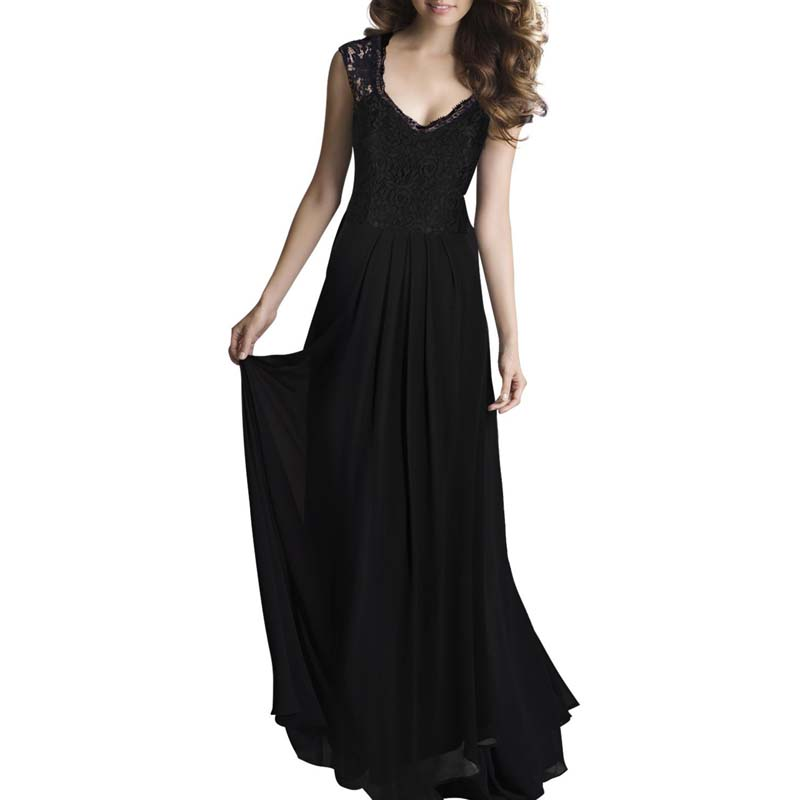 Summer New Style Party Dress Voile Casual Lace V Neck ...