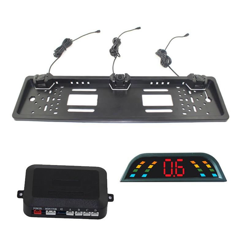 Купить OEPZ303-L ПРИВЕЛО Европейский Номерного Знака Автомобиля Реверсивная Система 3 Датчики Парковки Биби Звук Сигнала Тревоги