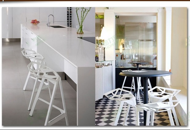 The new designer chair cafe Iron tall bar stool chairs creative geometry<br><br>Aliexpress