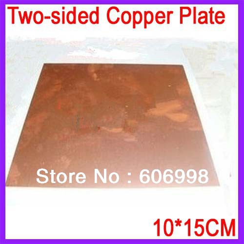 10*15CM 1.5MM Thickness Two-sided Copper Plate Glass Fiber PCB Board(China (Mainland))
