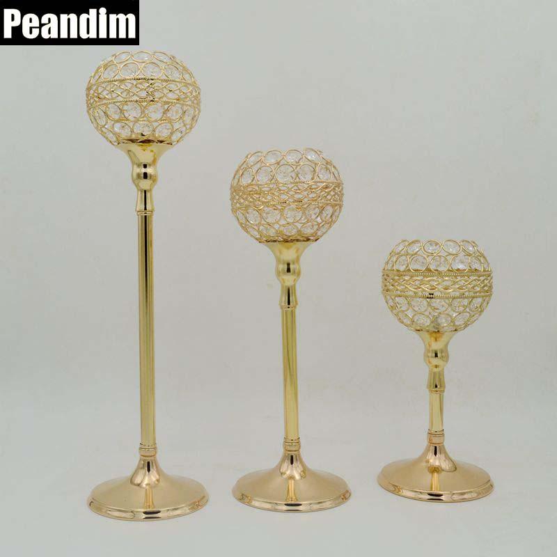 PEANDIM Crystal Wedding Decoration Table Centerpieces Strands Candlestick Candelabra Base Candle Holders(China (Mainland))