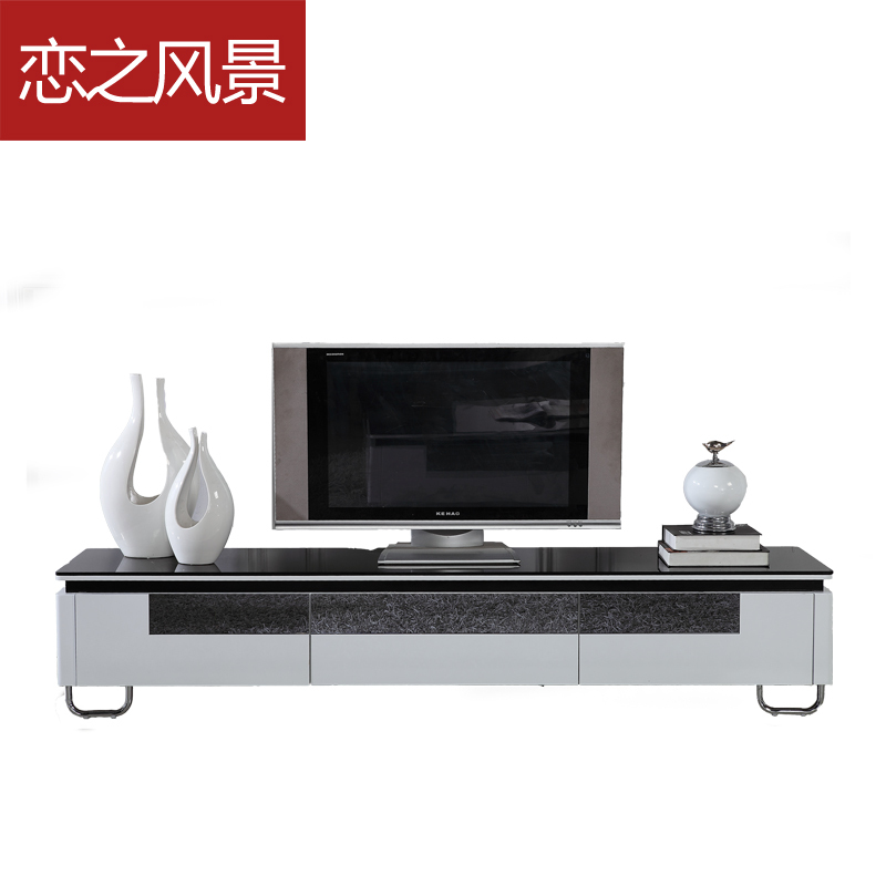flottant paysage meuble tv moderne mode minimaliste peindre le salon table basse vitrine miroir. Black Bedroom Furniture Sets. Home Design Ideas
