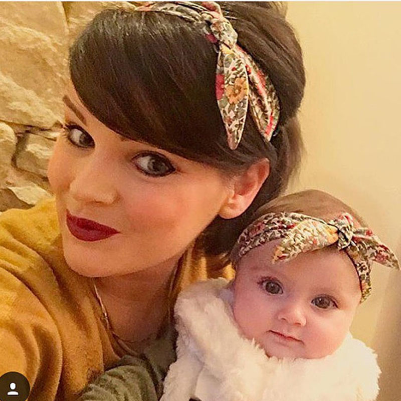 2016 New Mum and me Headbands Topknot Floral Headband for Mom and Baby Hair Accessories Mom and Baby Turban Headband 1 Set(China (Mainland))