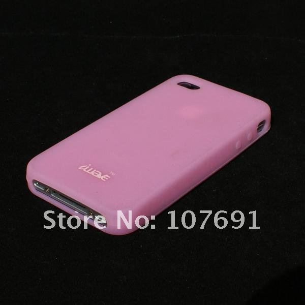 silicone case for iphone 4,for iphone 4 silicone back skin,back cover for iphone 4 FREE CASE