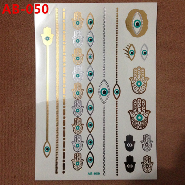 Body painting gold hot designs flash gold tattoo jewelry nail tools large temporary tattoos arabic Indian