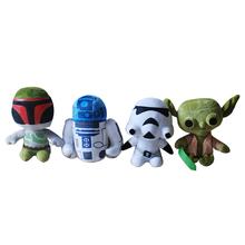 Star Wars The Force Awakens 18cm Darth Vader Anakin Skywalker plush toys doll dark warrior R2D2 Clone Trooper brinquedos Toys
