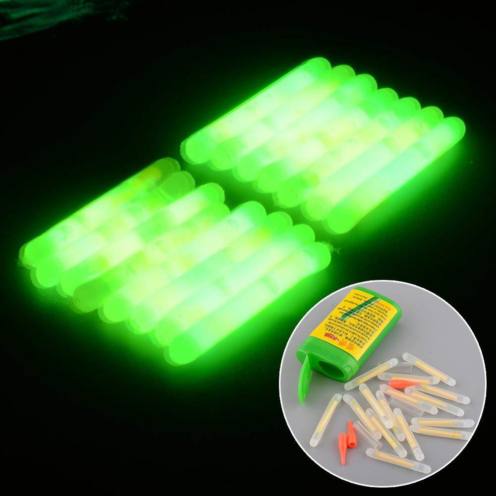 15X Mini Fishing Fish Fluorescent Lightstick Light Night Float Rod Lights Dark Glow Stick Useful Lots