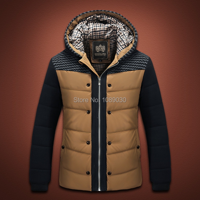 2014 New Thick Hooded Winter Coat Men Fashion Slim Men Jacket Winter Good Quality Warm Men
