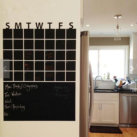 Chalkboard Calendar Wall Decal : Vinyl wall decal diy decoration fashion weekly planer