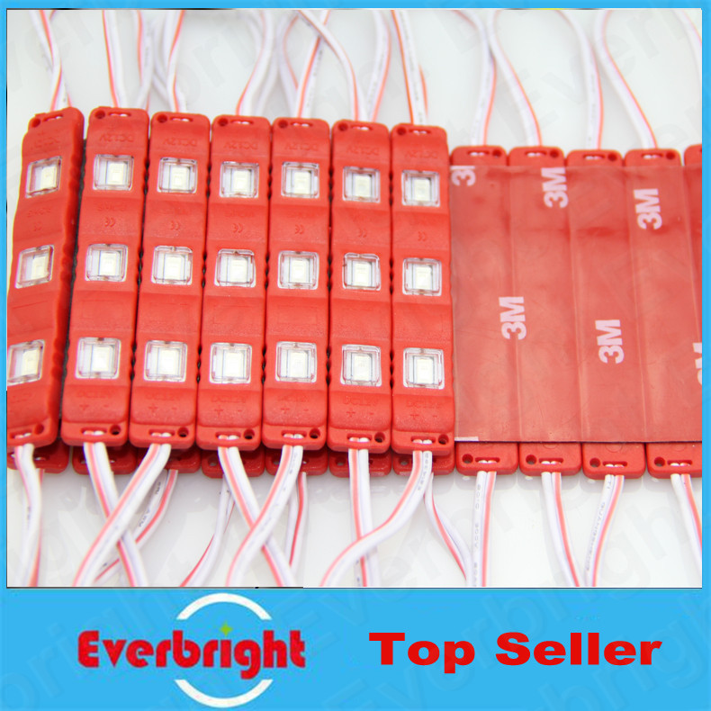 1000 pcs/Lot Super Bright injection molding 5730 LED Module 3 LEDS Light Waterproof For LED Channel Letter Advertising Sign(China (Mainland))