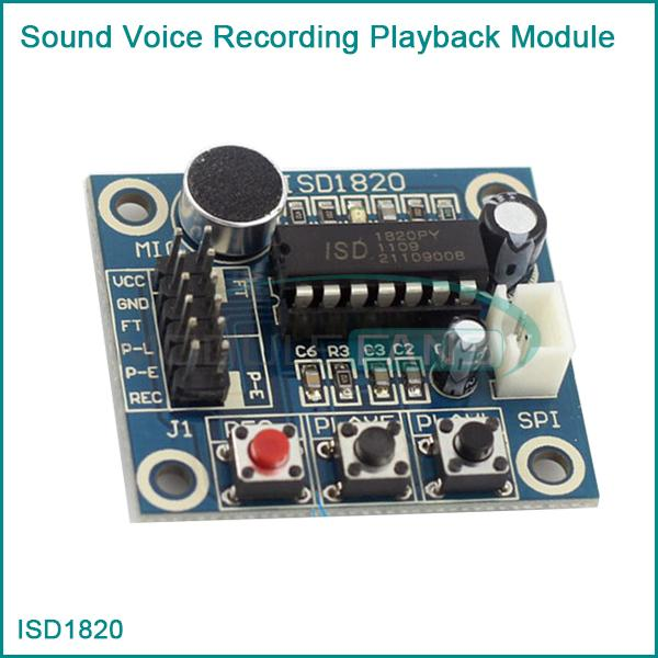 ISD1820 Sound Voice Recording Playback Module With Mic Sound Audio microphone HO(China (Mainland))