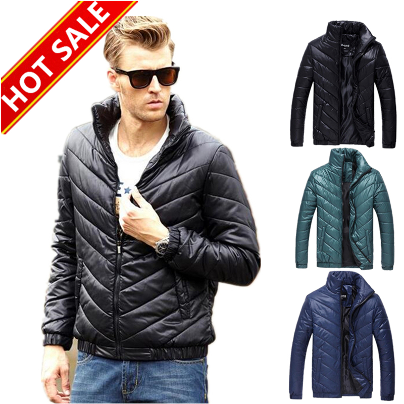 mens down jacket solid zipper cotton man jacket winter warm slim fit napapijri famous brand men winter jackets and coats MY110(China (Mainland))