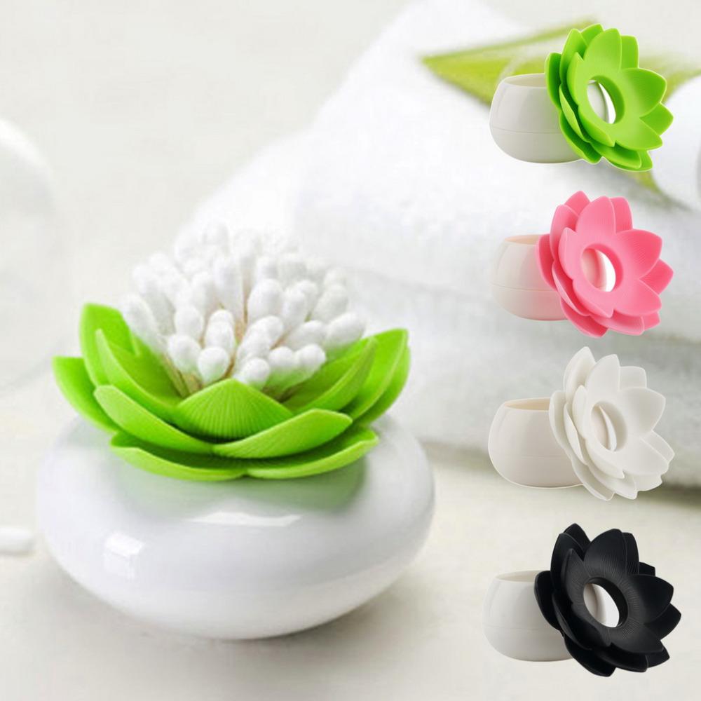 2016 New Lotus Cotton swab box lotus cotton bud holder base room decorate / Lotus Toothpicks holder Toothpick case High Quality(China (Mainland))