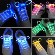 1 Pair 80CM Led Light Glow Shoelace Glow Stick Flashing Colored Neon Shoelace Luminous Laces Party Shoe Accessories(China (Mainland))
