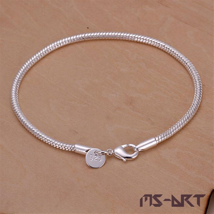 Bracelet 925 Silver Bracelet 925 Silver Fashion Jewelry Bracelet For Women Men Wholesale Free Shipping