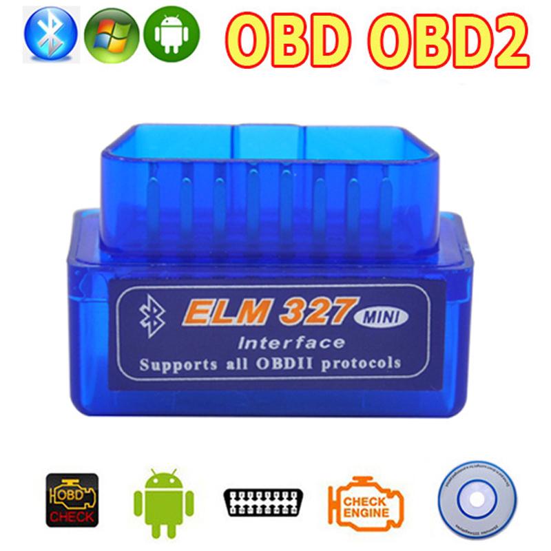 OBD2 OBD ii Wireless V2.1 Super Mini ELM327 Bluetooth Interface Car Scanner Diagnostic Tool ELM 327 For Android Torque Windows(China (Mainland))