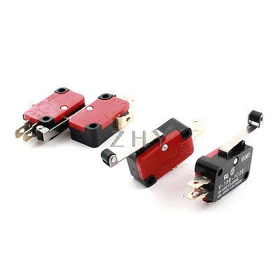 Roller Hinge Lever NO NC Actuator Micro Limit Switch DC 125V 0.6A 4pcs(China (Mainland))