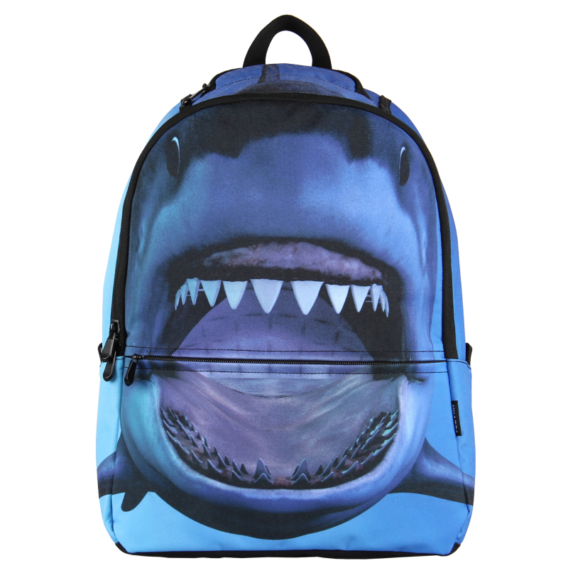 VN 2015 3D printing backpack school bags for girl/boy/teenagers cute shark bag men's women's backpacks laptop backpack Rucksack(China (Mainland))