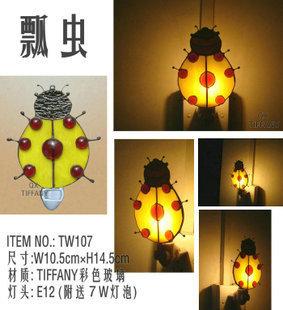 Wall Lamp/Wall LightsTiffany Ladybug Night Light Yellow Light Fun gift dedicated room decor Nightlight<br><br>Aliexpress