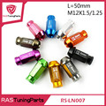 20Pcs D1 Spec Performance Racing Wheel Lug Nuts Screw M12x1 5 1 25 Length 50mm Aluminum