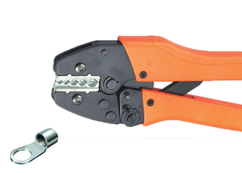 Ratchet crimping plier 0.5-1.0,1.5-2.5,4.0-6.0mm2 AWG20-7 Dedicated cable connector crimping tool(China (Mainland))