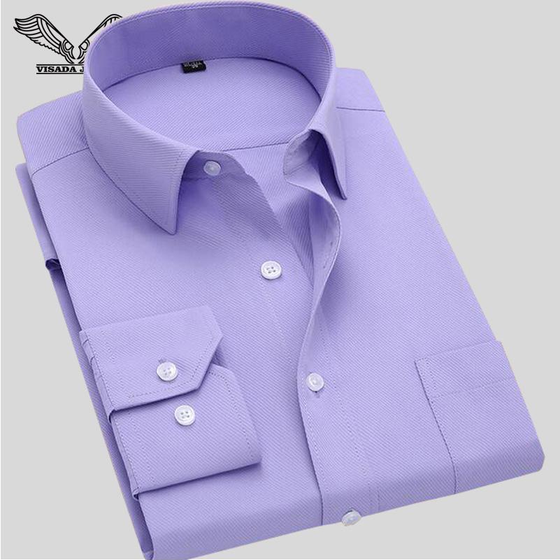 Long Sleeve Slim Men's Business Shirt 2016 Autumn New Fashion Designer High Quality Solid Male Fit Formal Dress Shirt 4XL N351(China (Mainland))