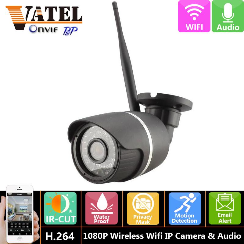 Full-HD 1080P 2.0MP Wireless Wifi IP Camera Weatherproof H.264 Audio Bullet Camera Network outdoor Security Camera Night Vision(China (Mainland))