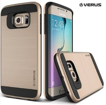 10 Color Verge Brushed Plastic +TPU Cases for Samsung Galaxy S6/S6 edge/S6 edge Plus Tough Armor Layered Slim Tough Armor Cover(China (Mainland))