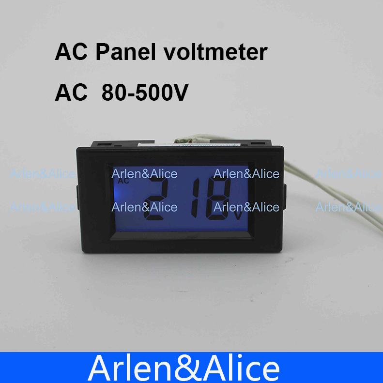 Гаджет  LCD display Voltage meter  voltmeter  range AC 80-500V  Panel Monitor blue backlight None Инструменты