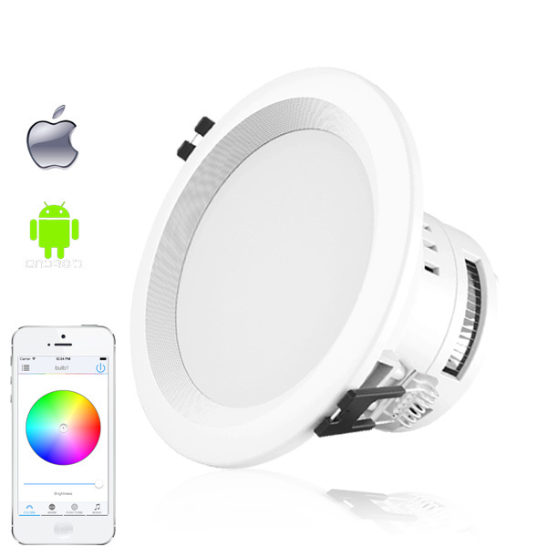 1 PCs E27 7.5W RGBW Warm White Wifi LED Downlight Dimmable Adjustable Remote Control for iPhone & Android 4.3 or above(China (Mainland))