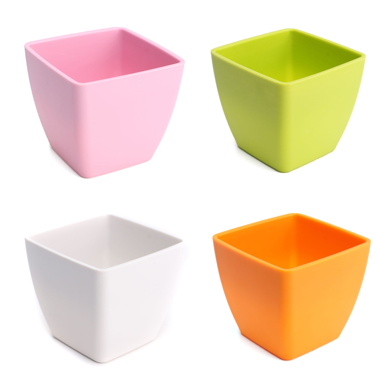 Plant Flower Pots Plastic Creative Small Square Pot