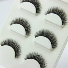 3 pairs /set 3D Cross Thick False Eye Lashes Extension Makeup Super Natural Long Fake Eyelashes JNG(China (Mainland))